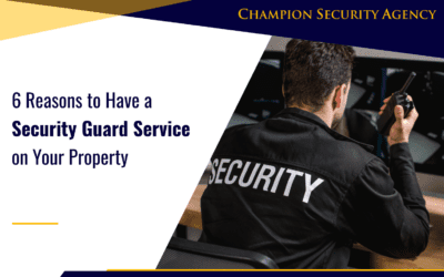 6 Reasons to Have a Security Guard Service on Your Property